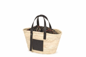 BASKET BAG_NATURAL RAFFIA & CALF_16,500 THB
