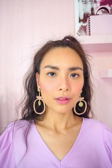 Jean II Earrings - Blush